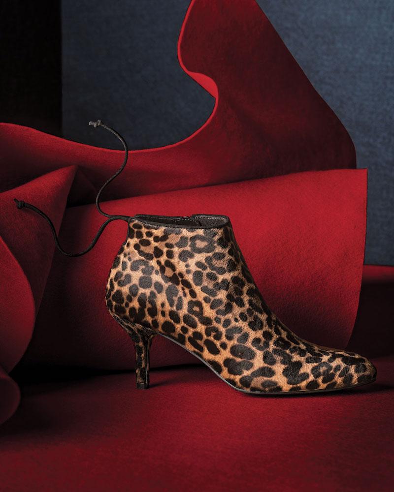 Stuart Weitzman Pipelofty Leopard Calf-Hair Bootie