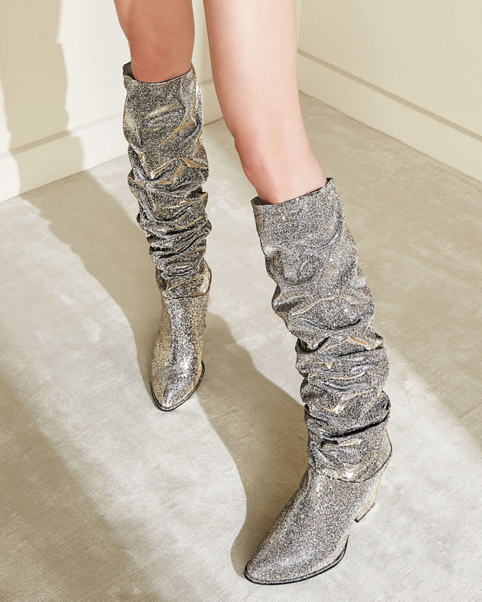 Stuart Weitzman Smashing Sparkle Knee Boot