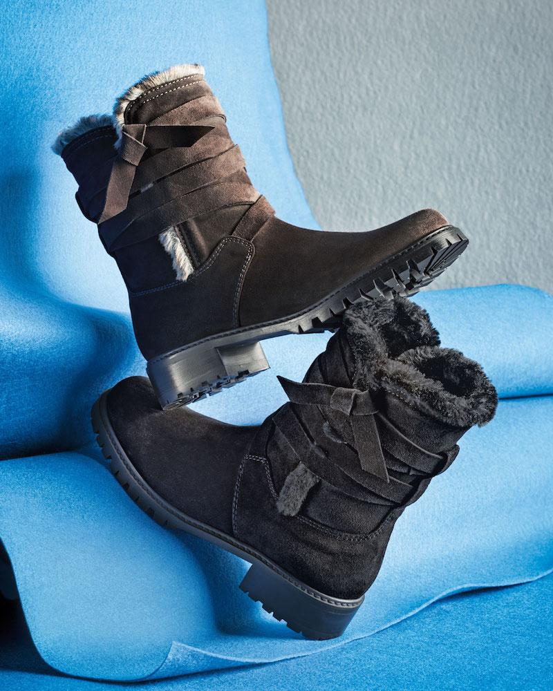 Stuart Weitzman Snowfield Faux-Fur Velour Boot