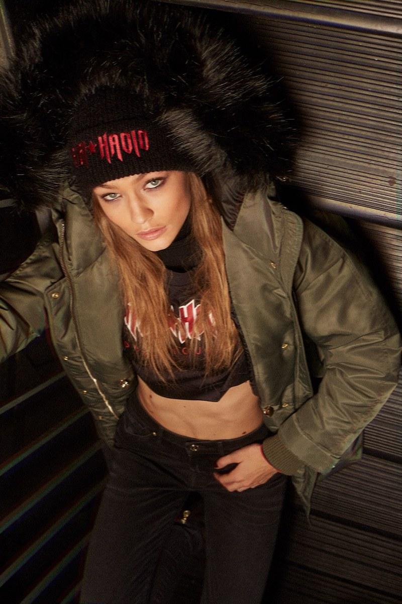 TOMMY x GIGI Nylon Down Parka with Faux Fur