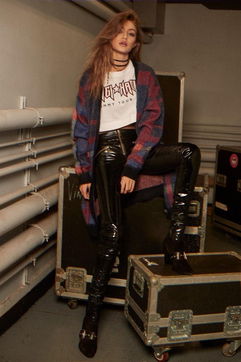 TOMMY x GIGI Rock Tour Crop Cotton T-Shirt