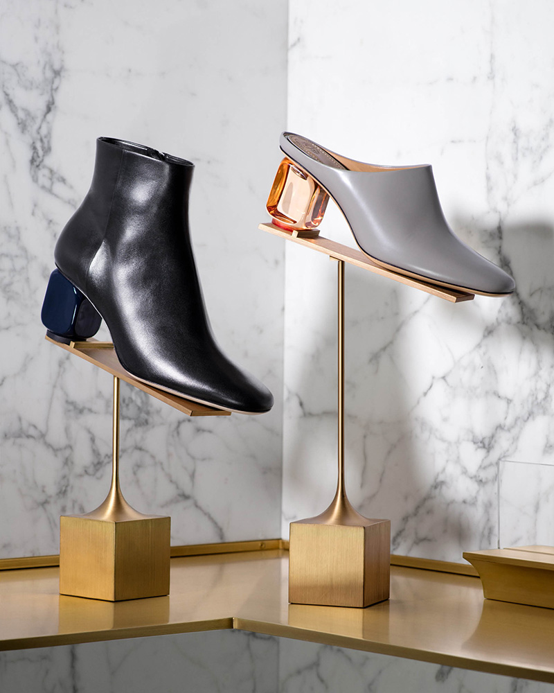 The Row Bowin Leather Ankle Boots