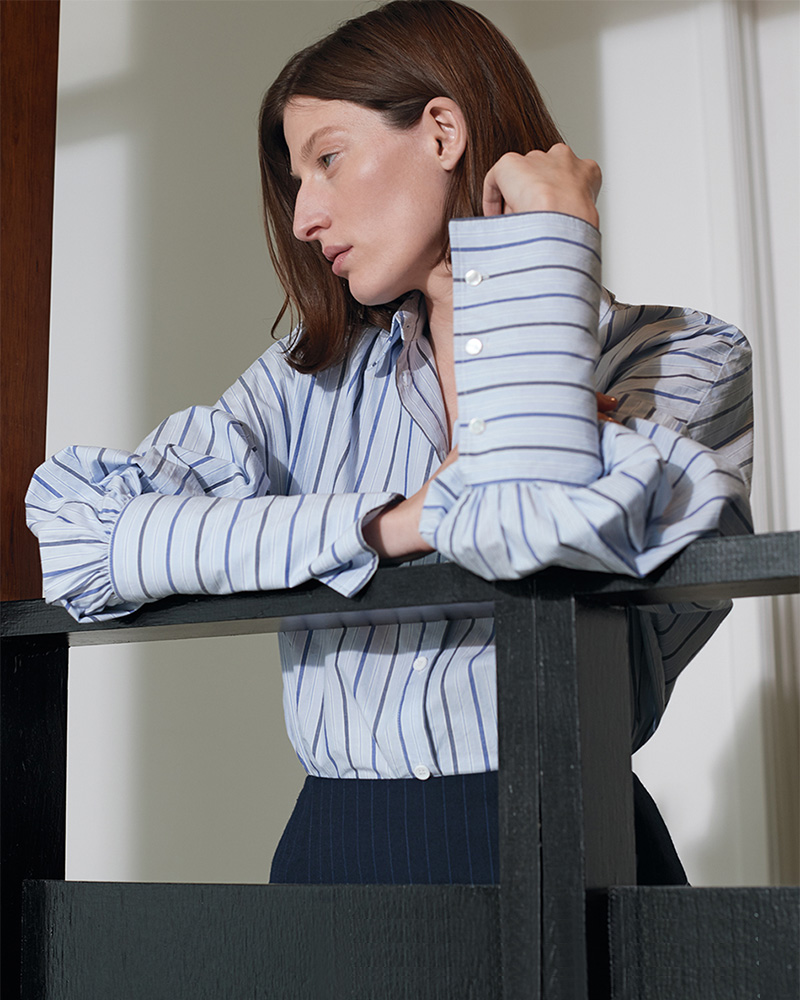 Tibi Garçon Stripe Easy Shirt
