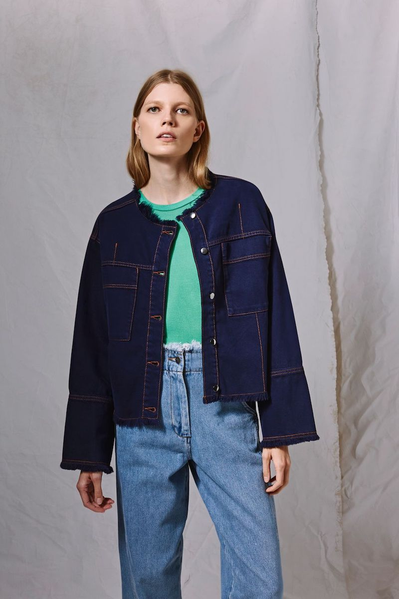 Topshop Boutique Boxy Denim Jacket