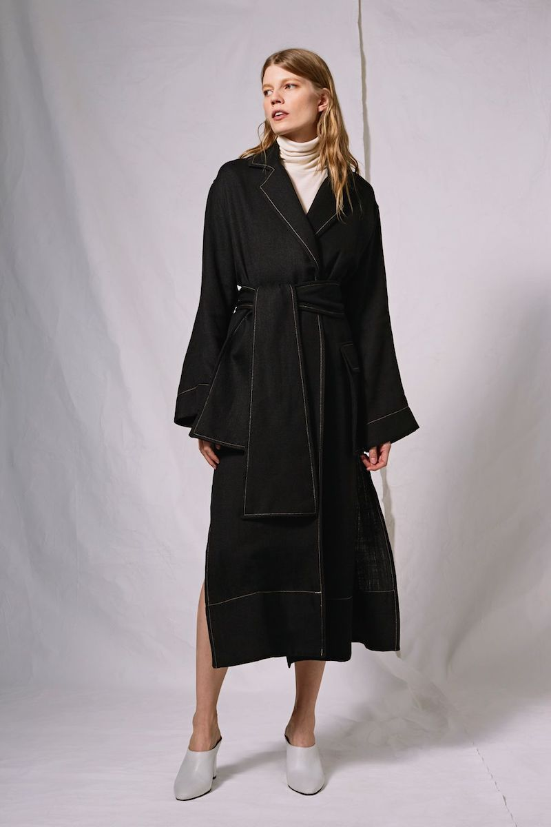 Topshop Boutique Contrast Stitch Duster Coat