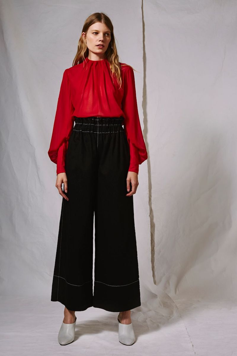 Topshop Boutique Ruched Waist Jeans