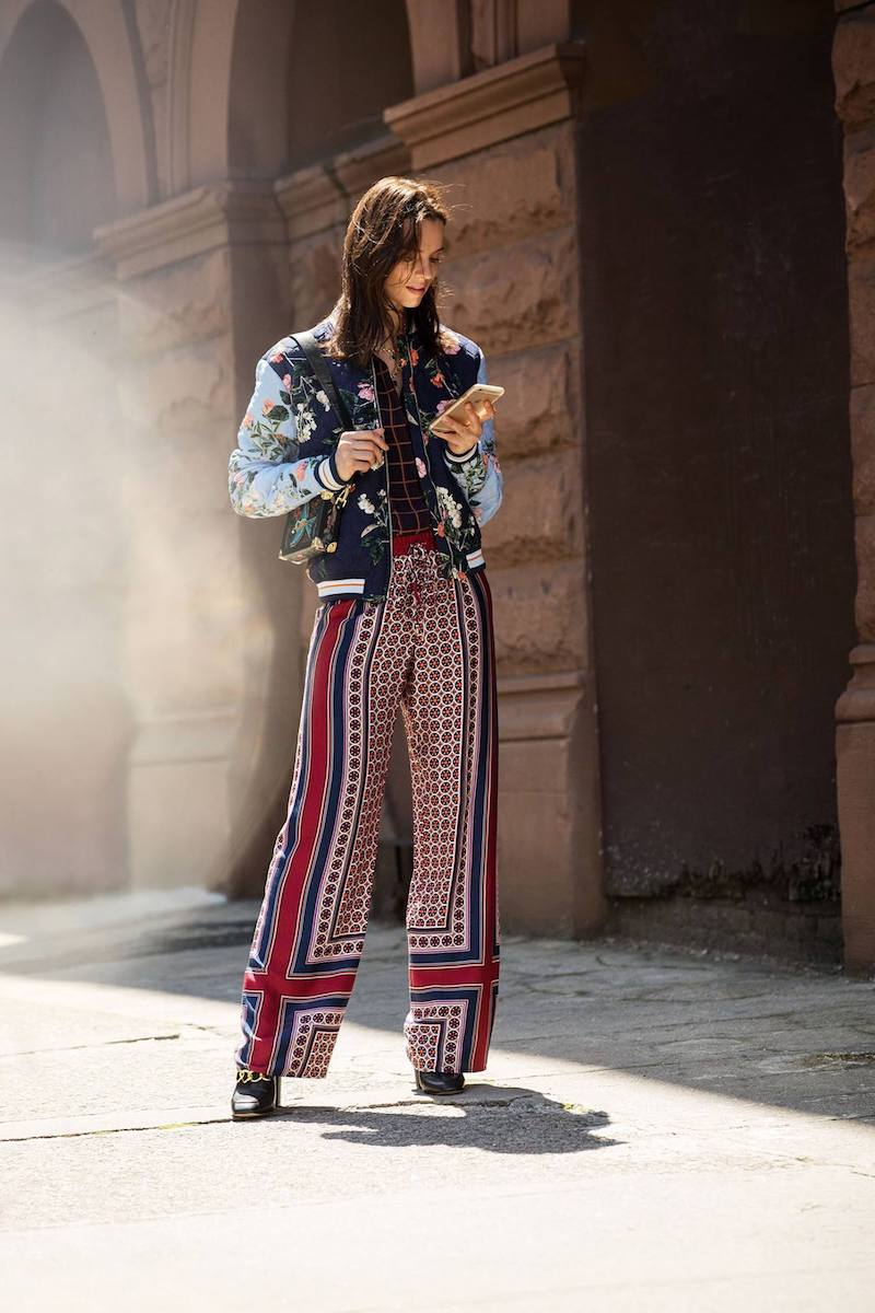 Trina Turk Adonia Fairfax Floral Placed Print Rayon Pant