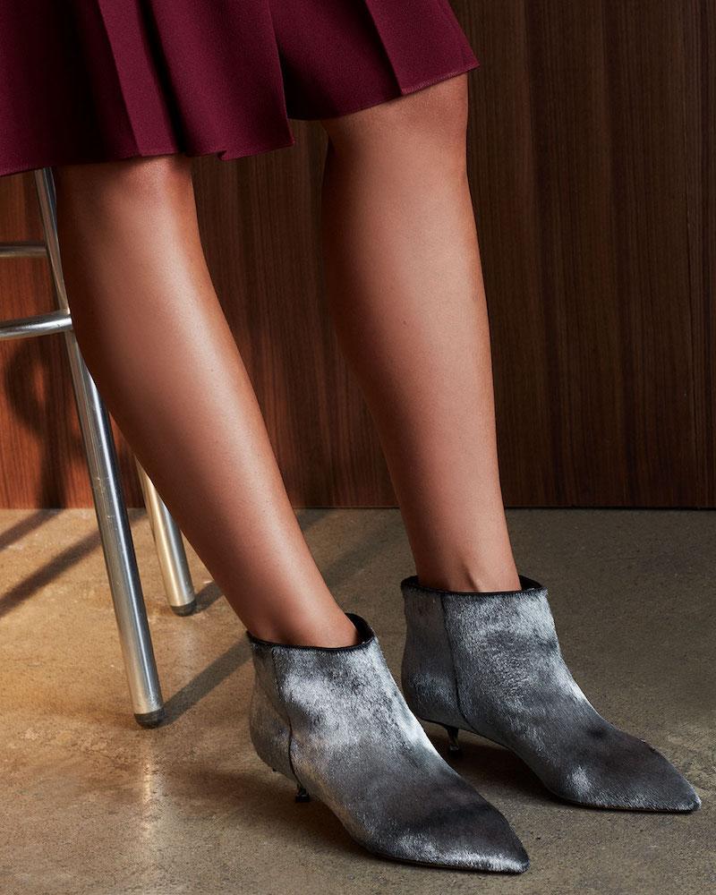 Valentino Garavani Twist Heel Low Fur Ankle Boot