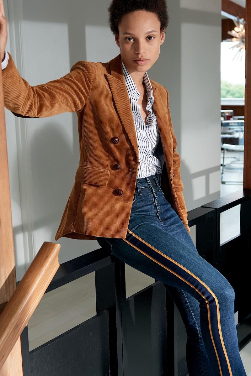 Veronica Beard Cliff Corduroy Cutaway Jacket