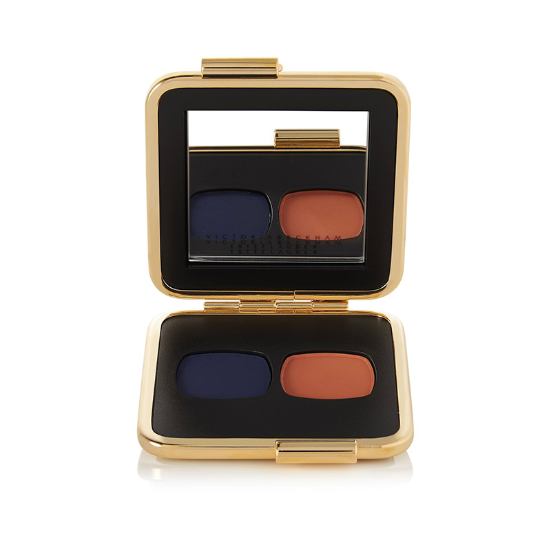 Victoria Beckham Estée Lauder Eye Matte Duo - Saphir and Orange Vif