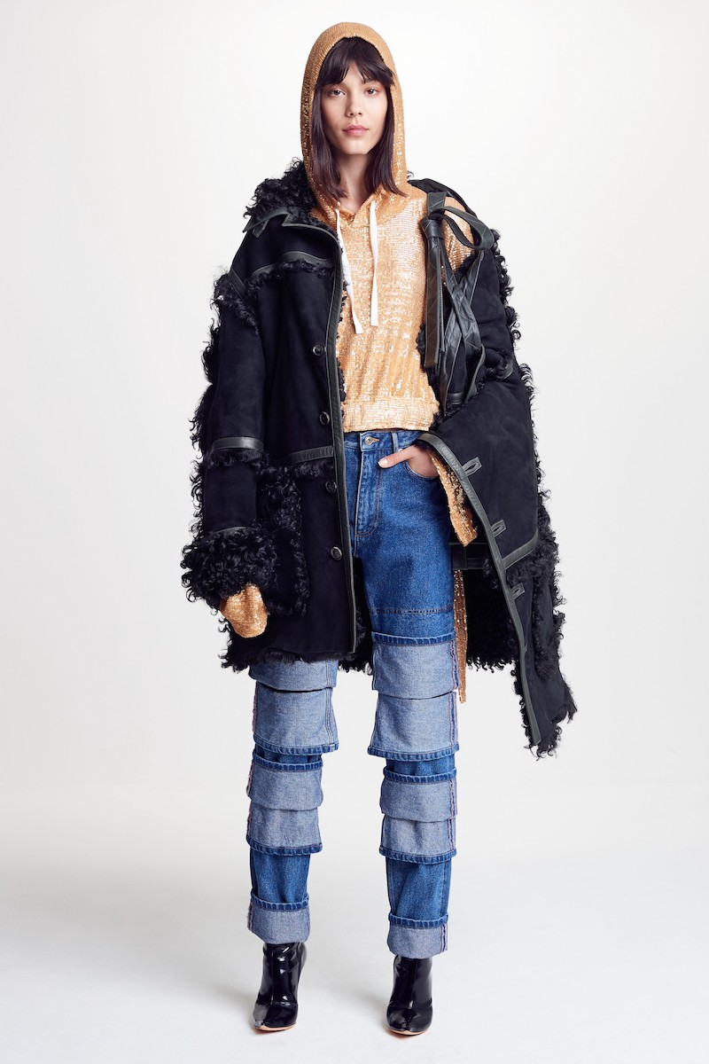 Y/Project Genuine Shearling Coat