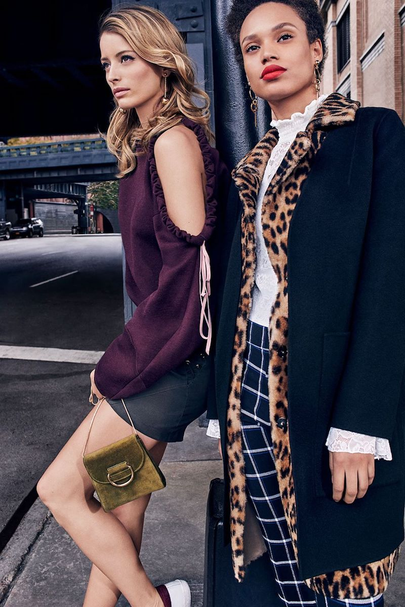 Yves Salomon Leopard Vest And Wool Coat Combo