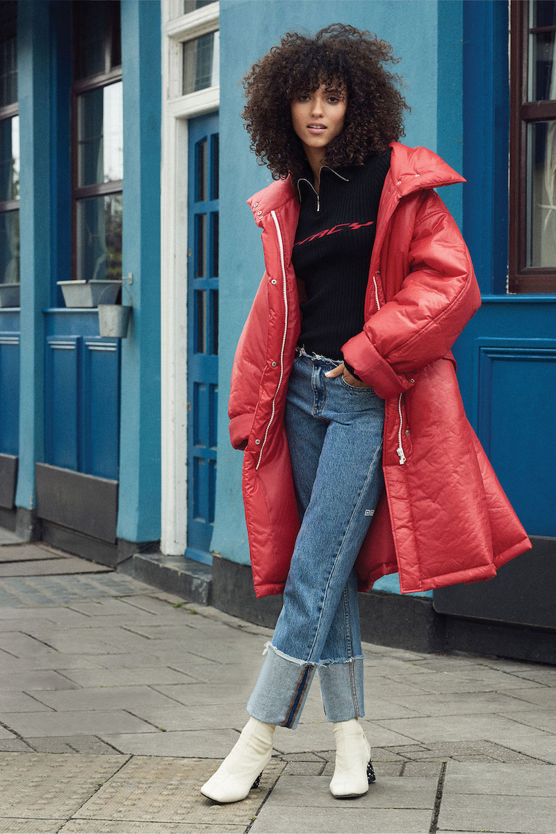 pushBUTTON Long Puffer Jacket