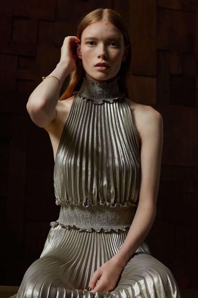A.L.C. Kravitz Pleated Midi Dress