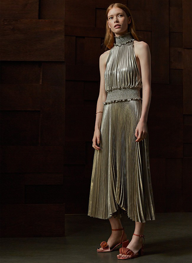 A.L.C. Kravitz Pleated Midi Dress