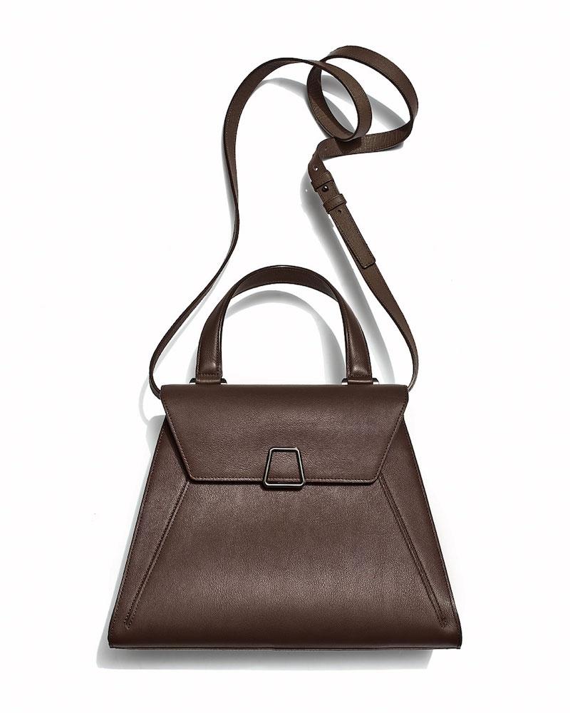 Akris Alba Framed Structured Calfskin Top Handle Bag