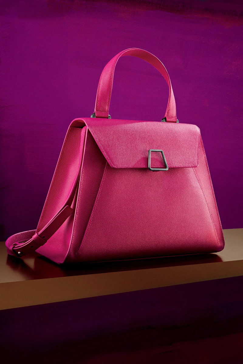 Akris Alba Structured Leather Top Handle Bag