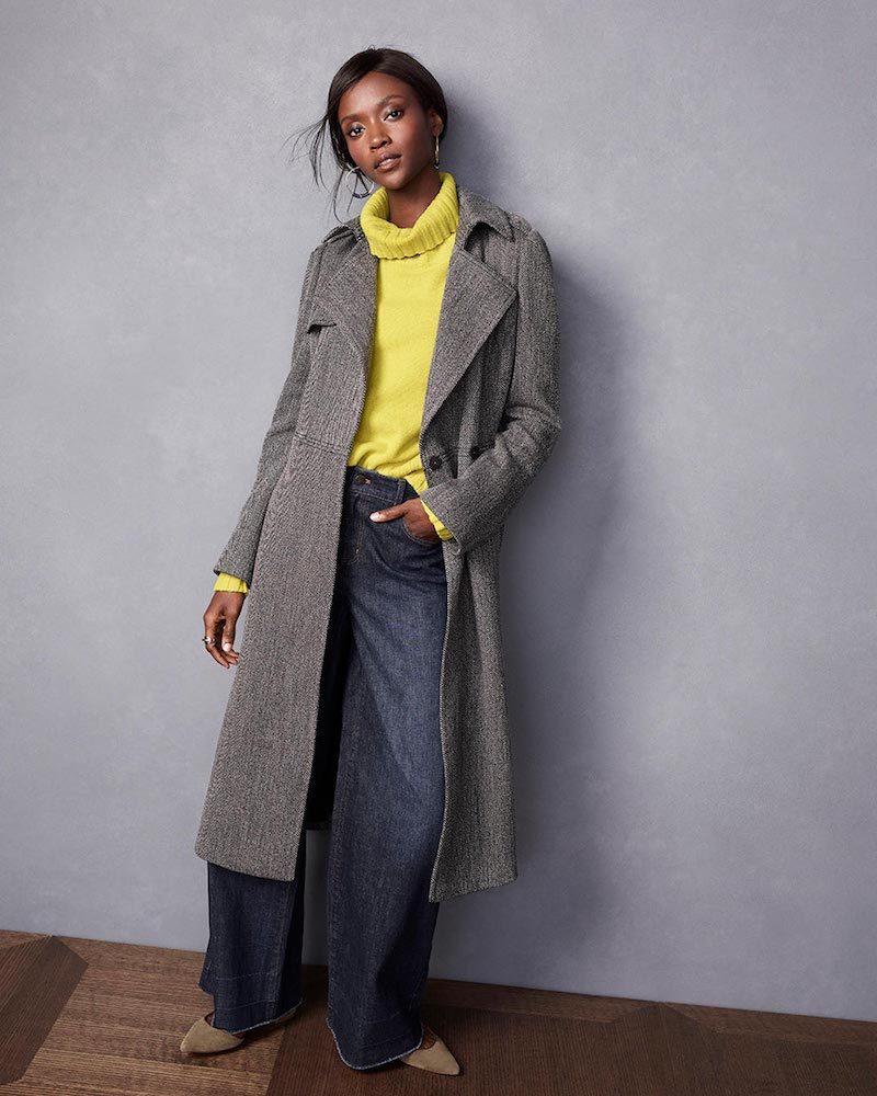 Ann Taylor Long Twill Trench Coat