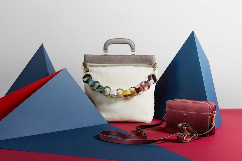 Anya Hindmarch Orsett Shearling and Suede Tote