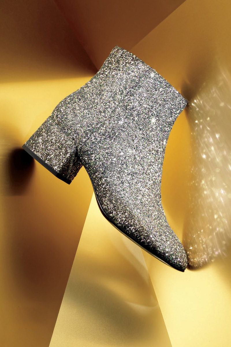 Ash Dragon Glitter Zip-Up Bootie