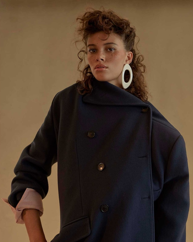 Balenciaga Pulled Double-Breasted Coat