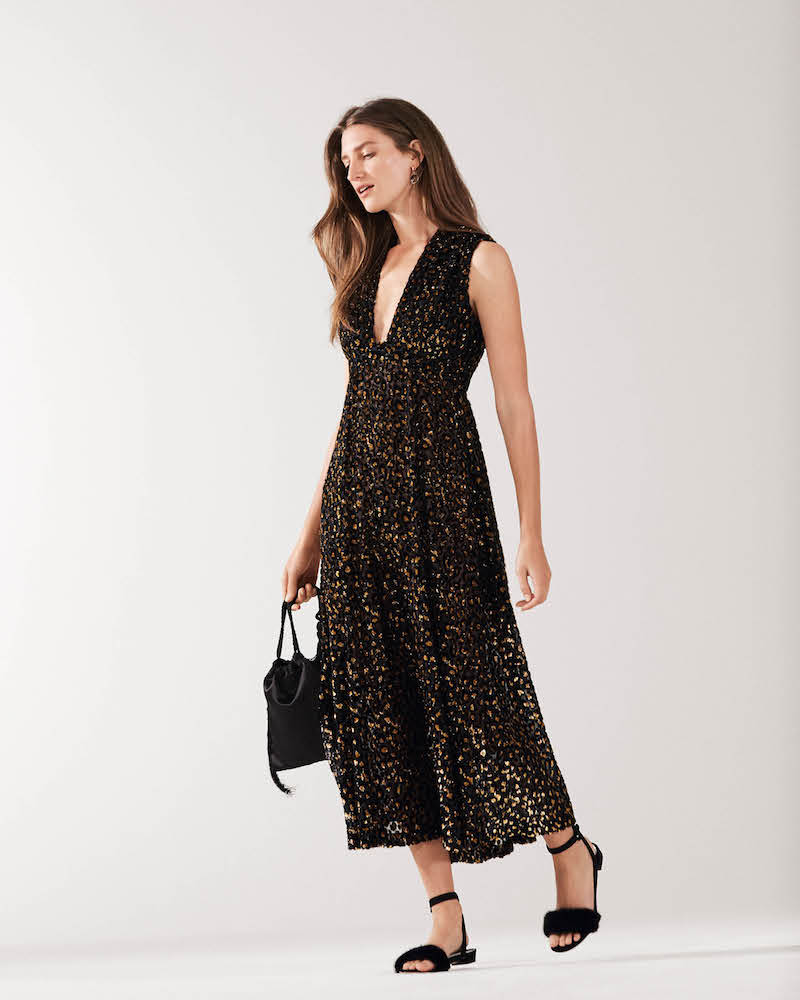 Barneys New York Leopard-Print Fil Coupé Maxi Dress