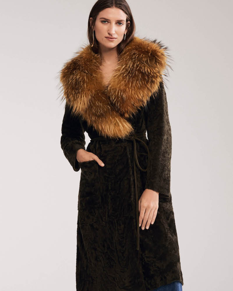 Barneys New York Mink Fur & Felted Wool-Blend Coat