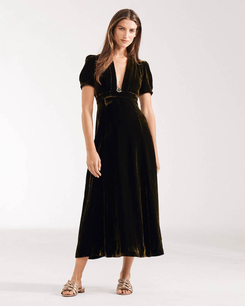 Barneys New York Velvet Maxi Dress