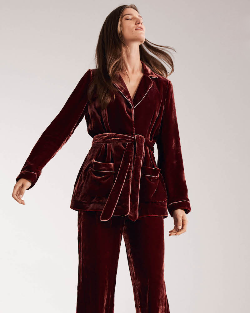 Barneys New York Velvet Robe Jacket