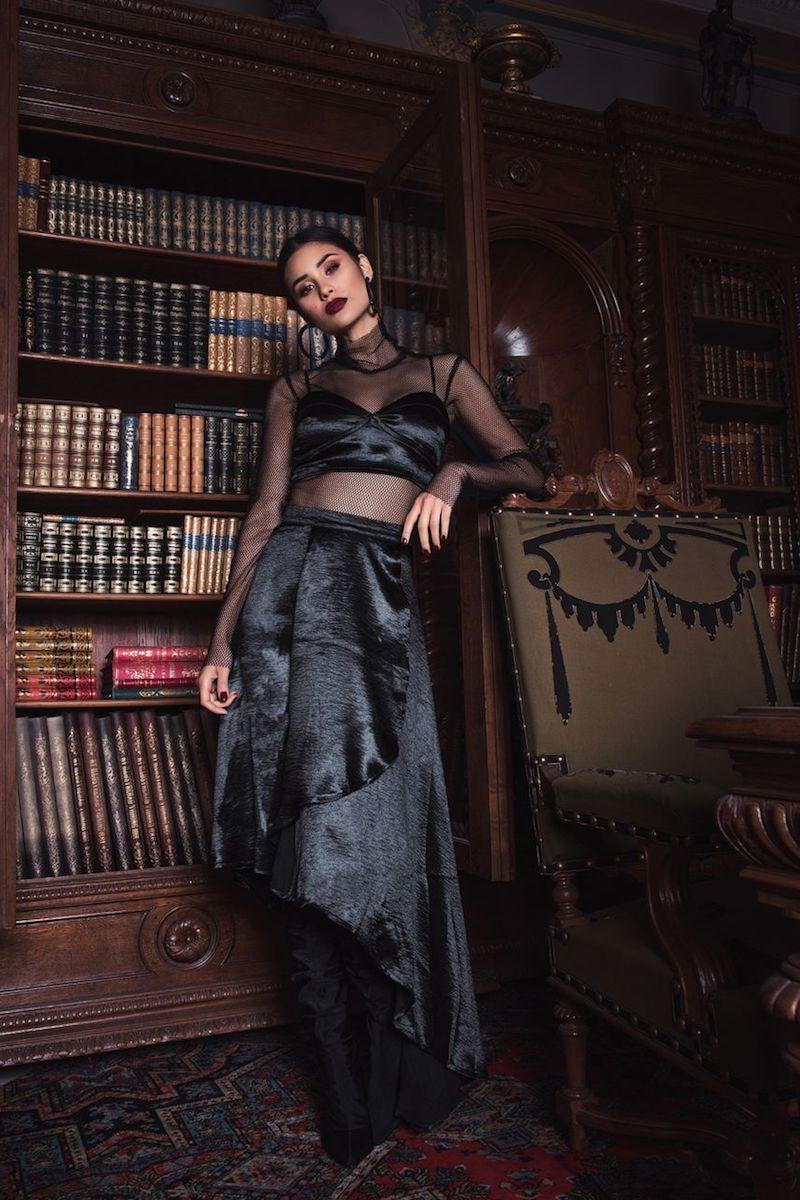 Boohoo Wrap Skirt & Bralet Co-ord
