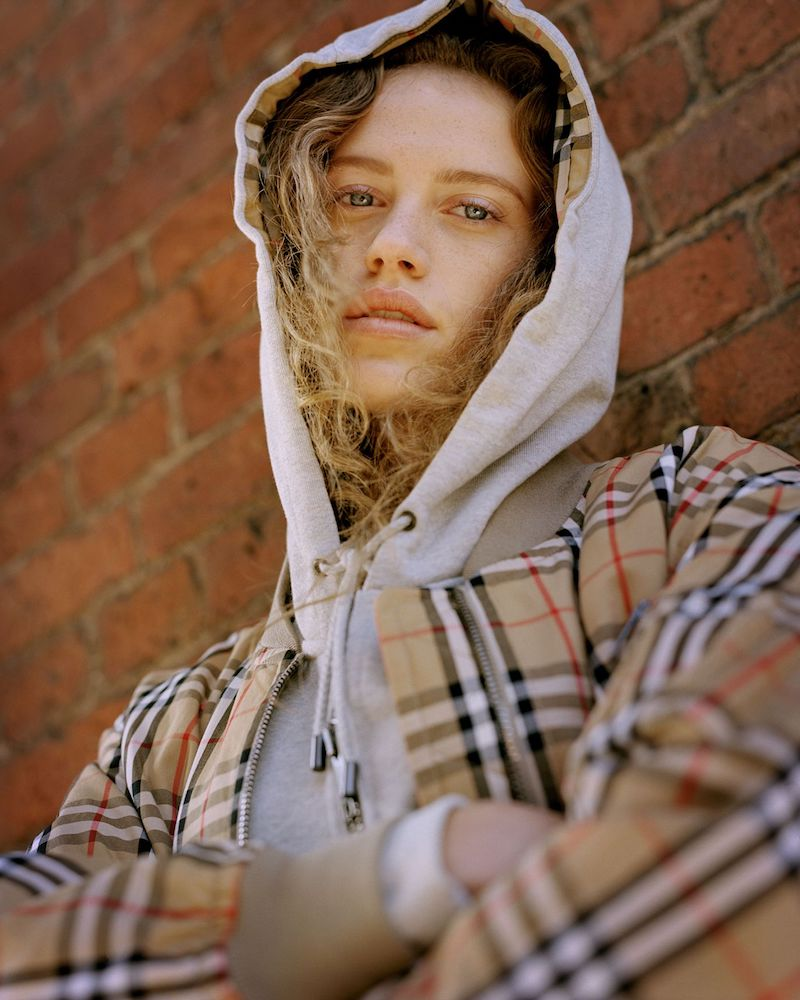 Burberry Oversized Cotton-Terry Hooded Top