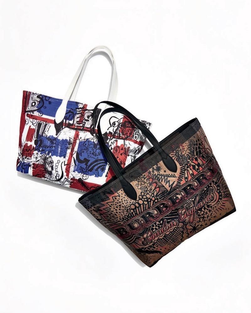 Burberry Union Jack Sketchbook Series Tote Bag