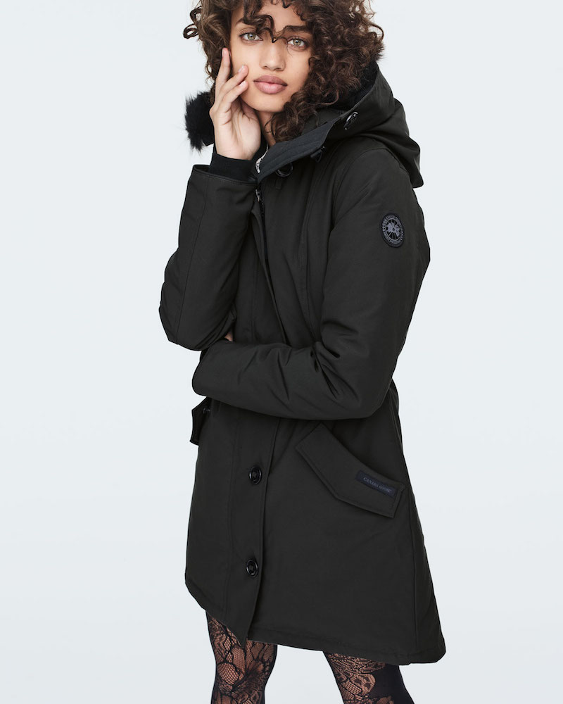 Canada Goose Rossclair Tech Parka Jacket with Fur