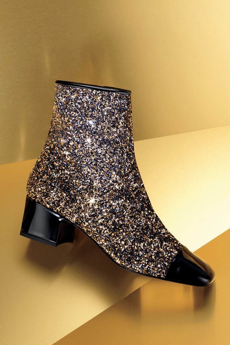 Chanel Glitter Ankle Boot