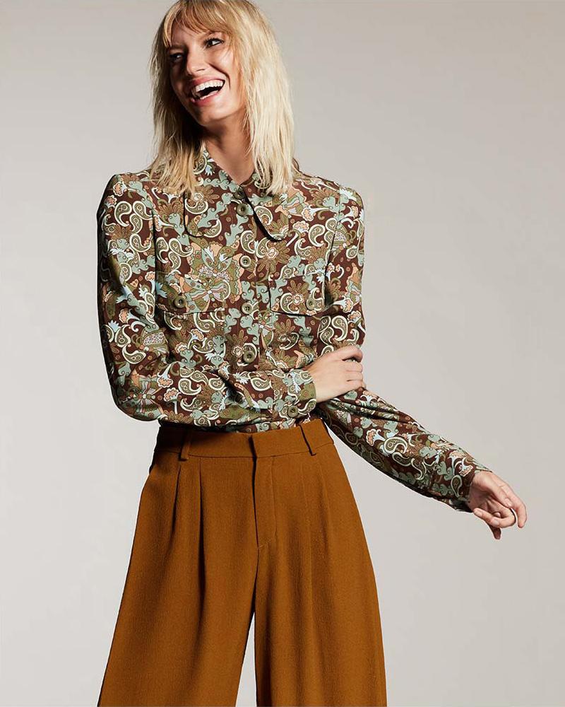 Chloé Floral Paisley Button-Down Blouse