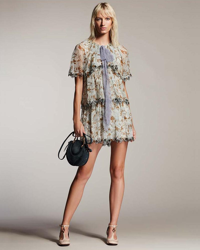 Chloé Layered Wonderland Organza Mini Dress