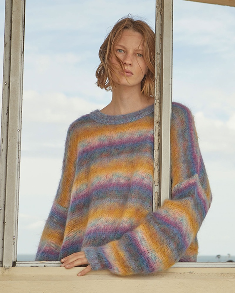 Chloé Oversized Striped Mohair-Blend Sweater