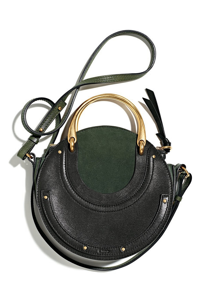 Chloé Pixie Small Round Double-Handle Tote Bag