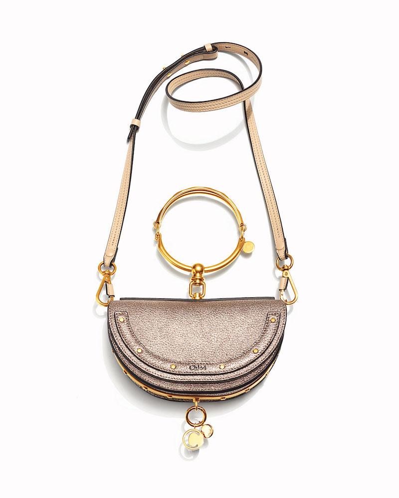 Chloé Nile Small Metallic Bracelet Minaudiere Bag