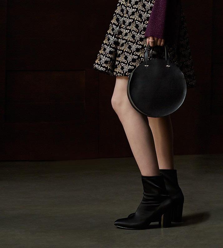 Clare V. Petite Alistair Leather Circular Crossbody Bag