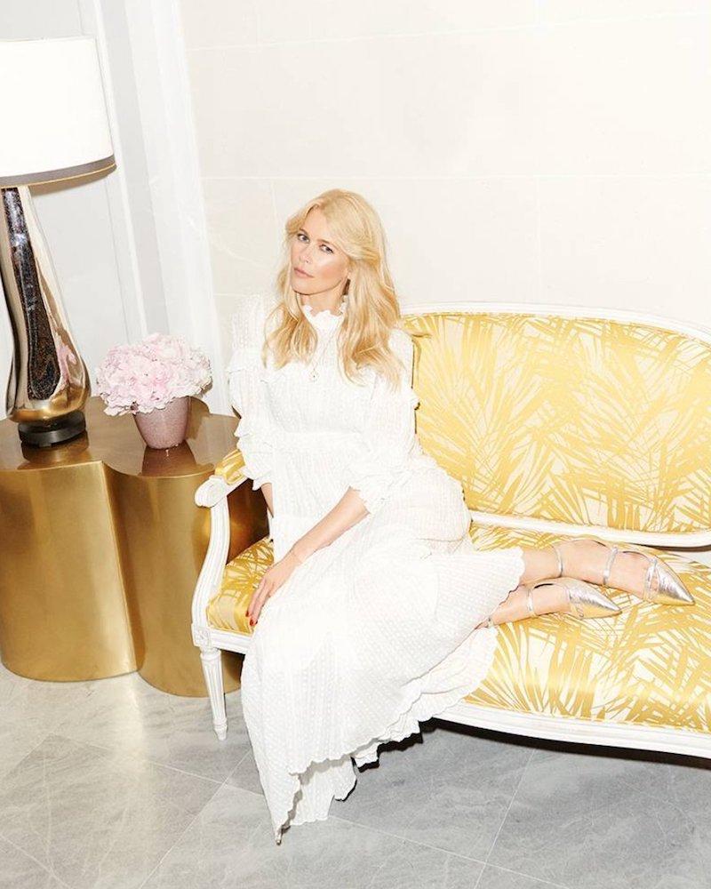 Claudia Schiffer for Aquazzura Sunny Flat
