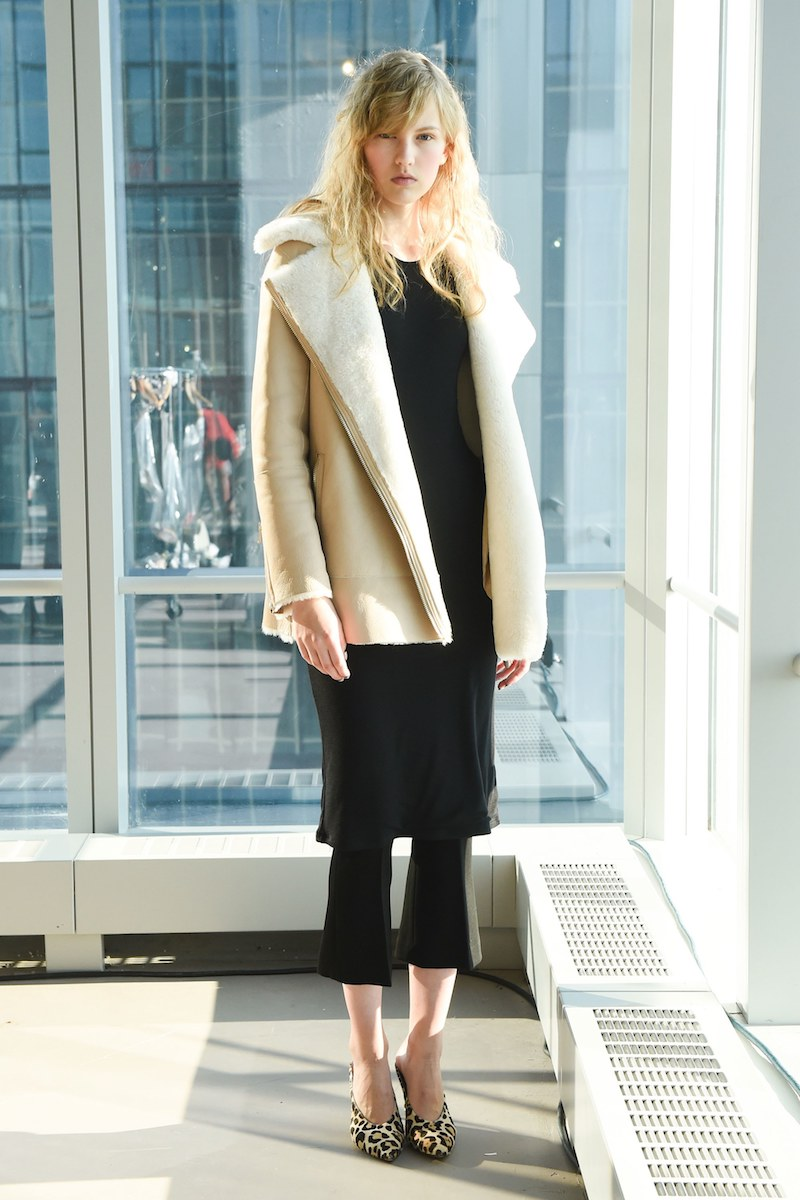 Club Monaco Talia Shearling Coat