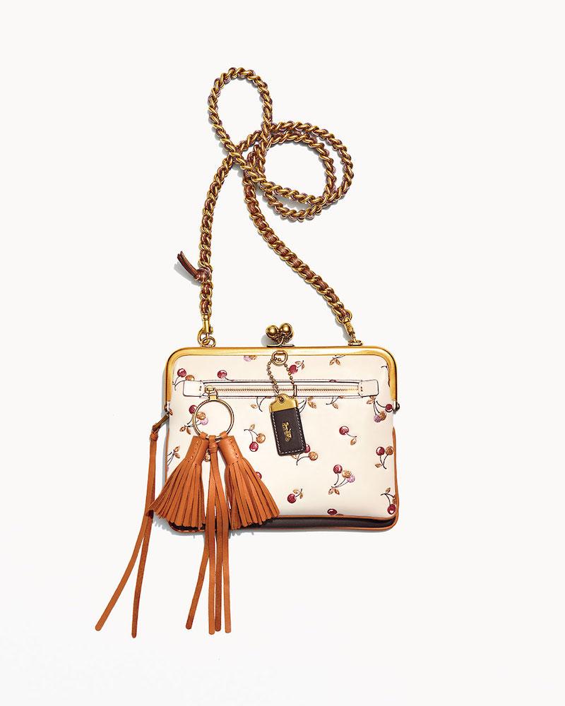 Coach 1941 Cherry-Print Kiss-Lock Crossbody Bag