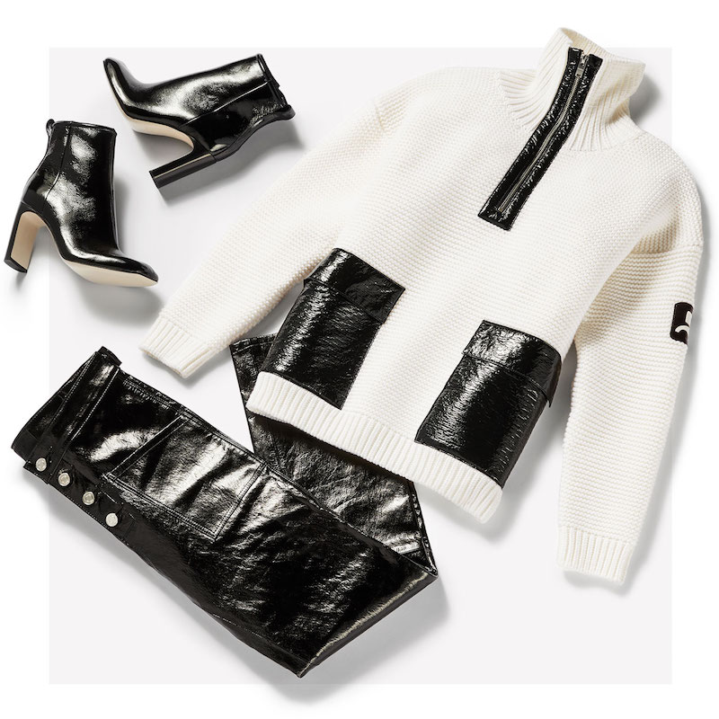 Courreges Zip Neck Sweater