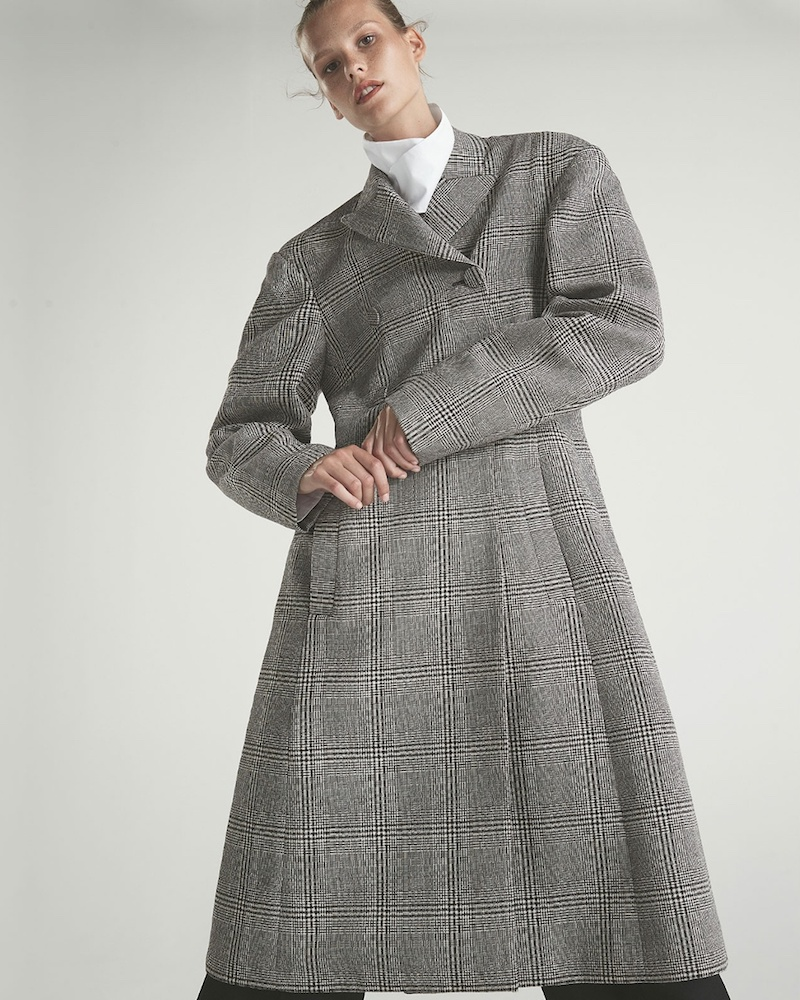 Ellery Bel Air Checked Double-Breasted Wool Coat