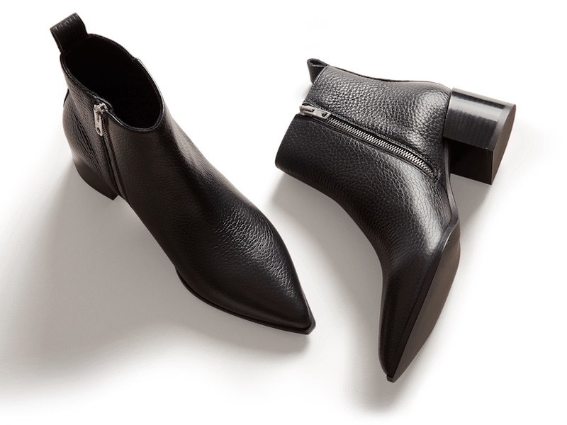 Everlane Boss Boot in Black Pebbled