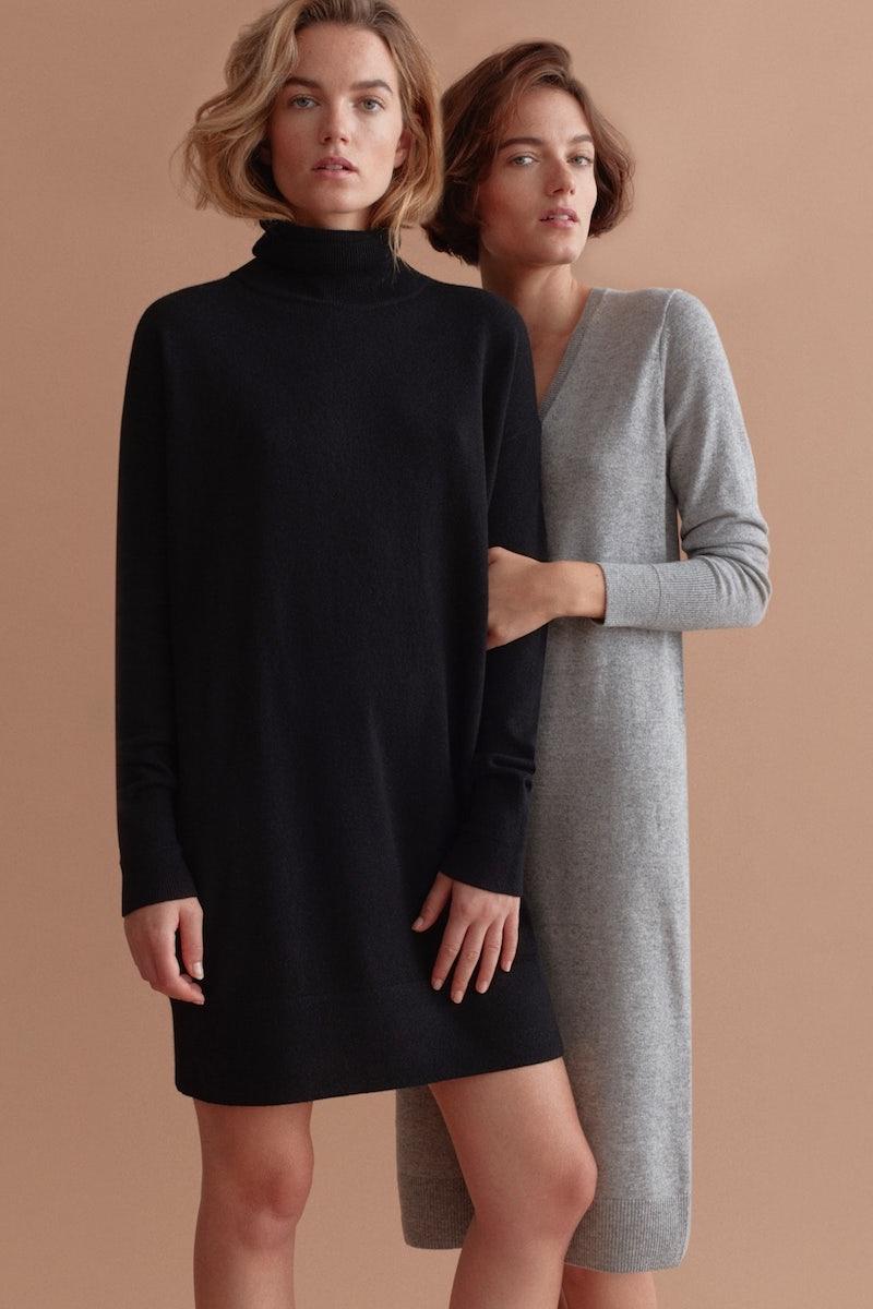Everlane Cashmere V-Neck Midi Dress