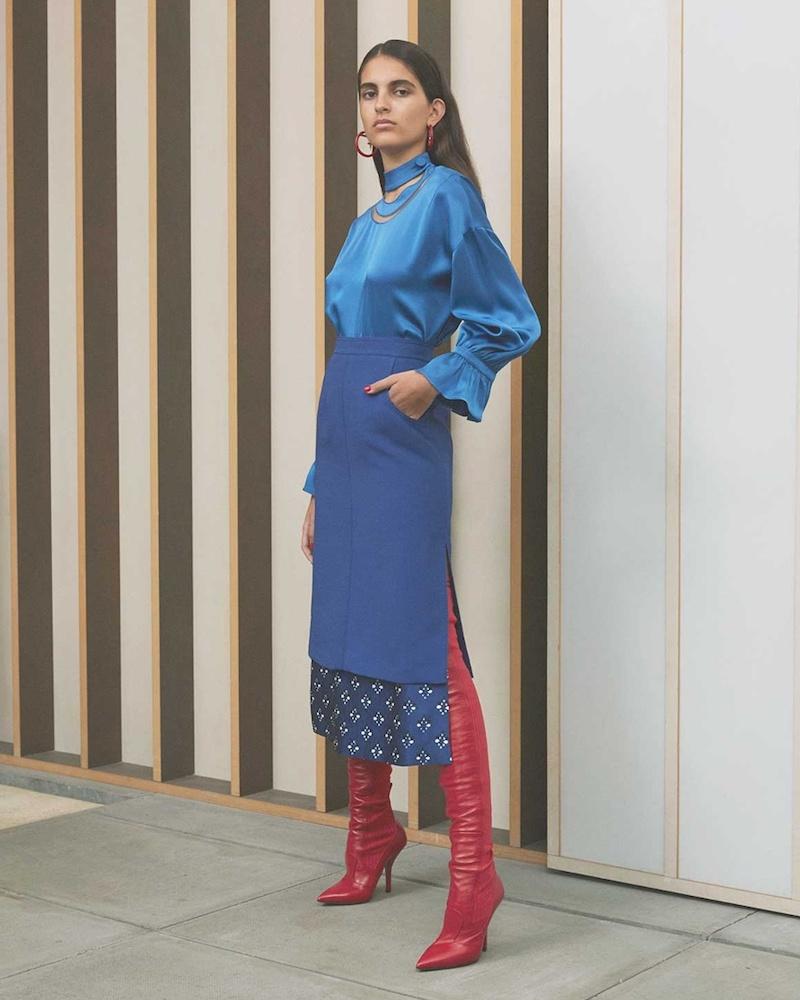Fendi Double-Layer Wool and Silk-Blend Gazar Skirt