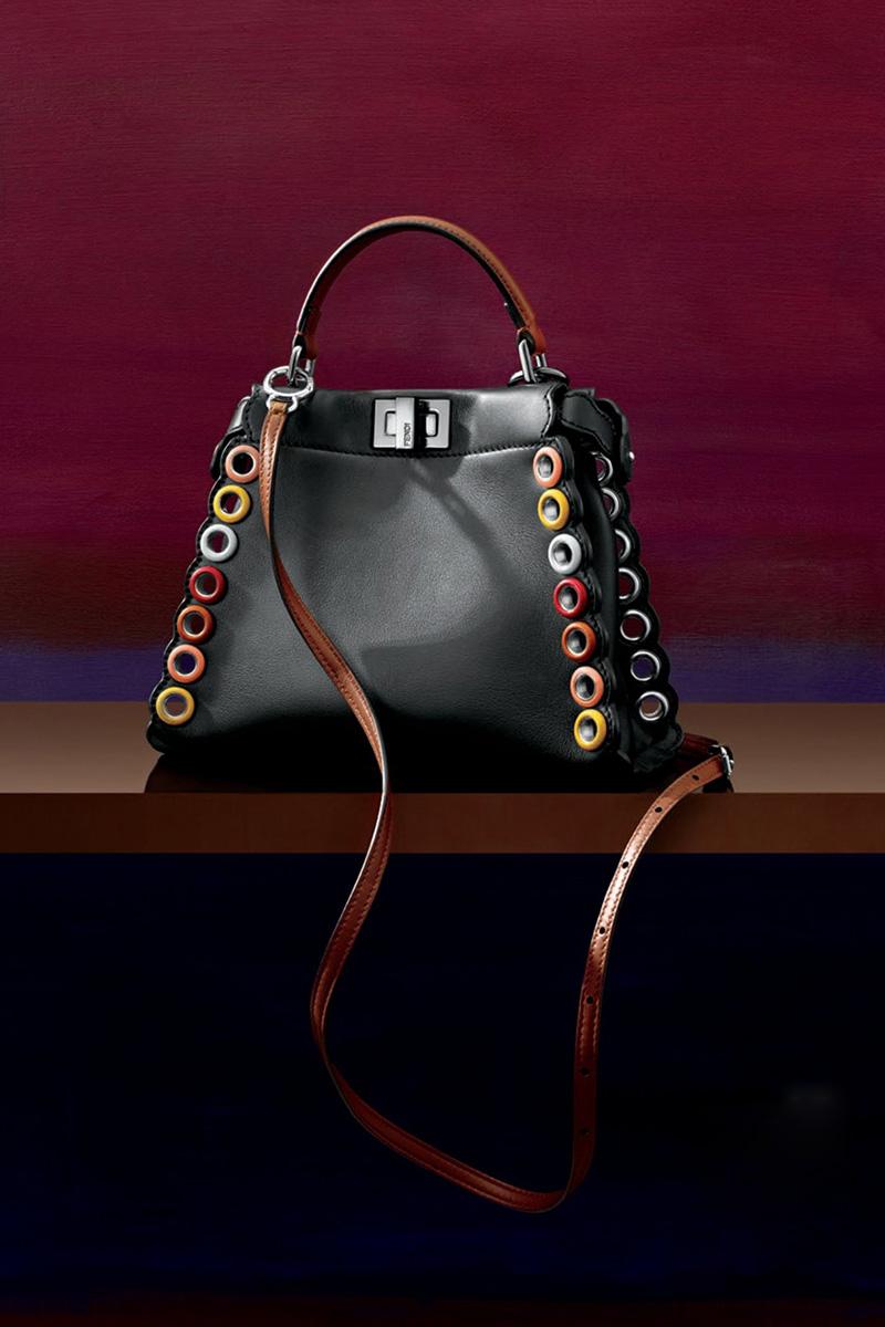Fendi Peekaboo Medium Leather Satchel Bag