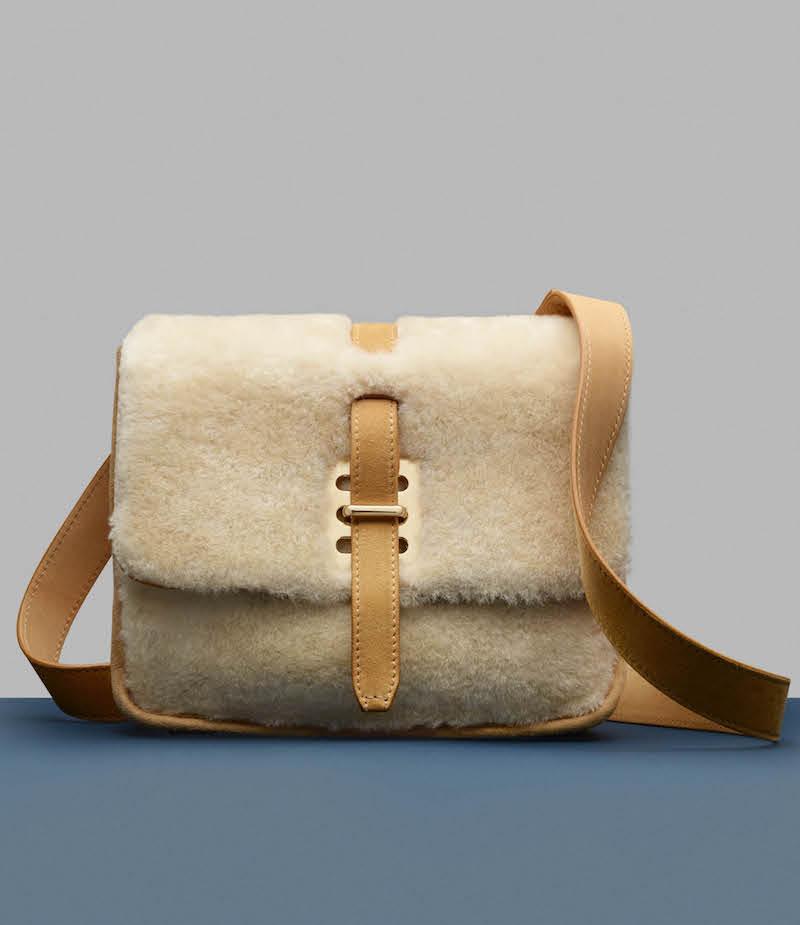 Fontana Milano 1915 Busy Day Lady Shearling Small Messenger Bag